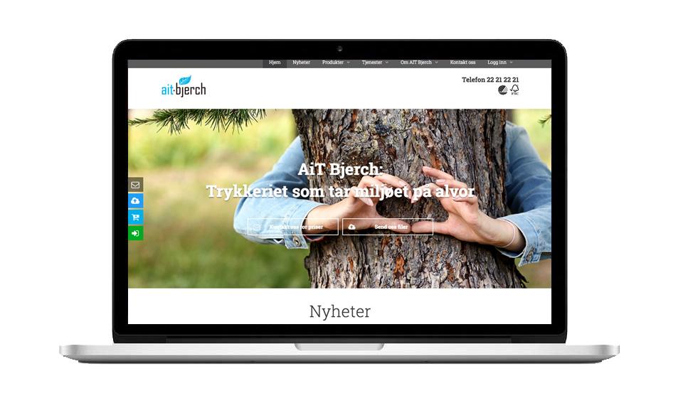 Forside hjemmesiden til AitBjerch