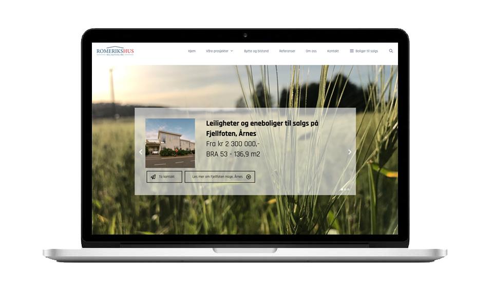 Webside til RomeriksHus